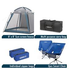Cabana Tent Walmart by Compaclite Deluxe Screened Shelter U0026 2 Chair Set Portable Sun