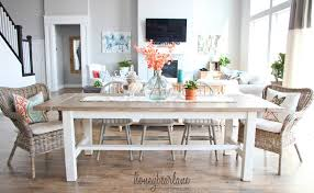 DIY Farmhouse Table And Bench Honeybear Lane - Dining room farm tables