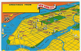 The Map Of New York by New York City Postcardiness U0027s Blog