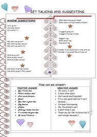 17 free esl making suggestions worksheets