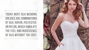silk and silk wedding dress alternatives for the glamorous bride