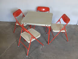 Folding Childrens Table And Chairs Vintage Samsonite Childrens Folding Table Pertaining To