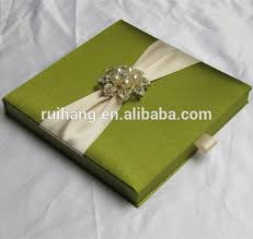 wholesale wedding invitations green luxury gatefold silk box wedding invitations wholesale with