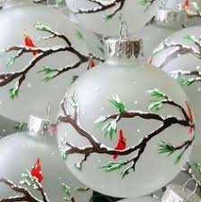 painted ornament with garland and by naturespetals