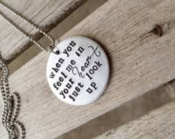 Personalized Memorial Necklace Remembrance Necklace Etsy