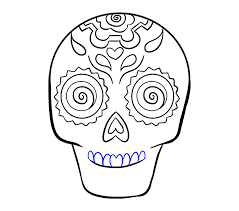 how to draw a sugar skull by tutorial easy drawing guides