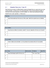 templates for business communication business continuity plan download 48 pg ms word 12 excel template