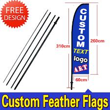 Custom Swooper Flags 10ft Single Sided Custom Feather Flag Beach Flag Swoop Flag Signs