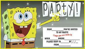free printable spongebob birthday invitations u2013 bagvania free