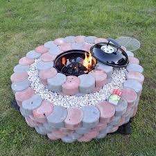 Firepit Bricks Pit Simple Step Awesome Pits Plans