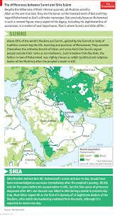 Islam World Map by The Economist Guide To Sunni And Shia Muslims