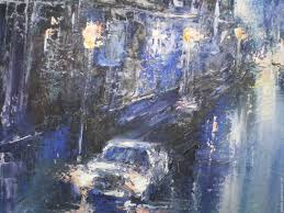 buy oil painting the rainy evening in new york city on livemaster