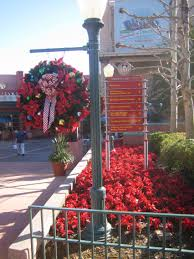 christmas decorations are starting to go up at disney u0027s hollywood