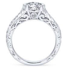 gabriel and co engagement rings semi bezel hammered engagement ring gabriel co er9058