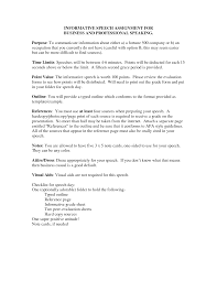 Resume Not Required Resume Informative Speech Outline Template Samples Professional