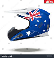 Original Motorcycle Helmets Flag Australia Extreme Stock Vector