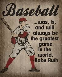 Baseball Bedroom Decor Vintage Baseball Art Print Kids Baseball Room Decor Ruth
