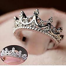 rings images images Fashion princess silver rhinestone crown wedding rings jpg