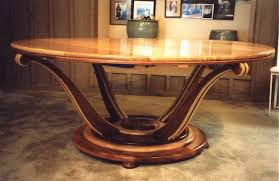 hand crafted art deco dining table by louis fry craftsman in wood