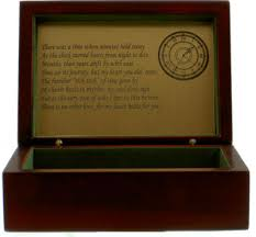 engraved memory box timeless keepsake box wood keepsake box clock gift