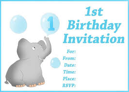 template printable 1st birthday invitation card for baby boy in