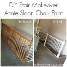diy stair makeover with annie sloan chalk paint hollie did an awesome job on her railing