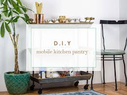 how to use a bar cart as a mobile kitchen pantry american art décor