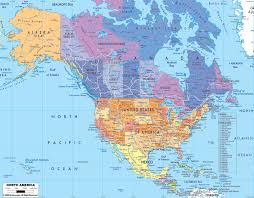 America Map With States by North America Map For With States Roundtripticket Me