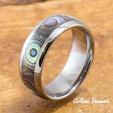 Hawaiian Wedding Rings by Wedding Rings In Tungsten Koa Wood Ceramic Stainless Gold