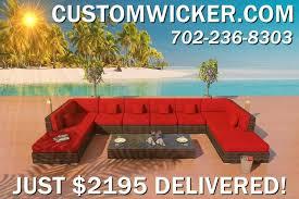 las vegas patio furniture outdoor wicker sectional sofa u shaped