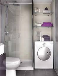 Bathroom With Black Walls White Washing Machine With Glass Shelving Also Toilet And Shower