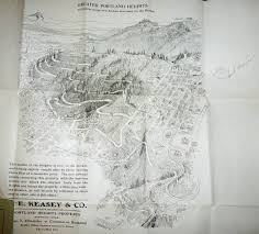 Forest Park Portland Map by Map Vintage Portland