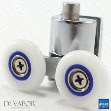spring quadrant shower door double roller 6mm to 8mm glass