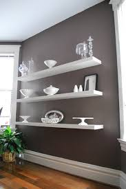 Dining Room Wall Shelves White With Glass Or Silver Accents - Dining room wall shelves