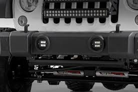white and black jeep wrangler 2 inch square cree black series led fog light kit for 10 17 jeep