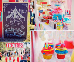 carnival birthday party ideas carnival theme decoration ideas circus themed tablecloth photo 1 of