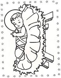 baby jesus for kids coloring page free download