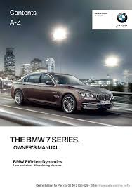 bmw 7 series 2014 f01 owner u0027s manual