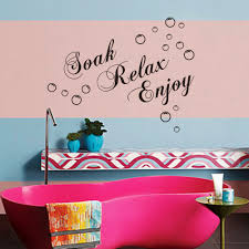 Wall Stickers And Tile Stickers by Aliexpress Com Buy 56 29cm Soak Relax Enjoy Rremovable Wall
