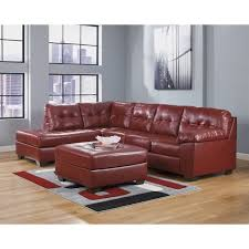 ashley furniture chair and ottoman ashley furniture alliston 3 piece leather sectional with ottoman