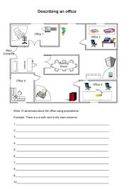 describing an office with prepositions worksheet eslflow