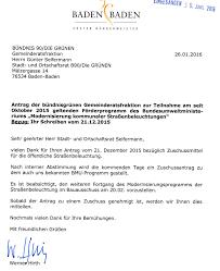 Stadt Baden Baden Straßenbeleuchtung Stadt Baden Baden Kommt Bündnisgrünen Anträgen