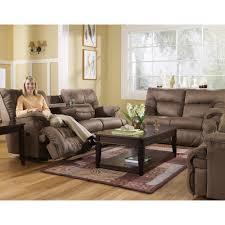 Ashley Leather Sofa And Loveseat Furniture Provide Extreme Comfort With Rocking Reclining Loveseat