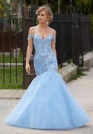 tulle mermaid prom dress with intricately beaded bodice and cold