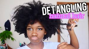 detangling marley hair how to detangling natural hair angelique brown youtube