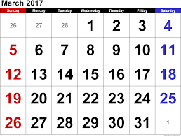 march 2017 calendar march 2017 printable calendar march 2017