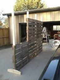 outdoor wood wall pallett wall privacy fence pinteres