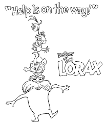 dr seuss the lorax help is on the way coloring pages coloring sun