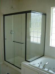 glass shower doors with black frame light glass shower doors