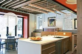 Led Track Lighting Kitchen with Beams Lighting Kitchen Contemporary With Textured Backsplash